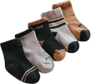 5 pares calcetines de algodón bowknot para bebé niños niñas de otoño e invierno calcetines de vestir calcetines largos altos calcetines infantiles calcetines recién nacidos