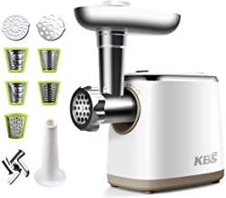 KBS Electric Meat Grinder Meat Processor, 1500W Slicer/Shredder/Juicer/Vegetable..
