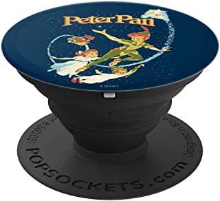 Disney Peter Pan Group Shot Night Time Flying Poster PopSockets Grip and Stand for Phones and Tablets