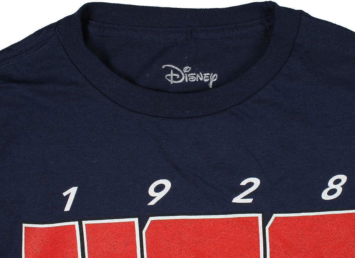 Disney Mickey Mouse Shirt Boys' Race To The Finish 1928 USA Stars And Stripes Logo Youth Tee