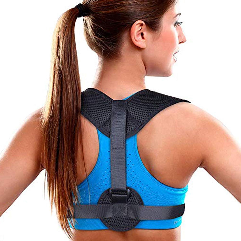 Posture Corrector for Women and Men Back AntiHump Orthopedic Device Adult Sitting Posture Clavicle Orthopedic Belt mesh Cloth
