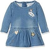 NAME IT Baby - Mädchen Kleid NITARONA SWE DNM Dress F NB 13144522, Einfarbig, Gr. 62, Blau (Light Blue Denim)