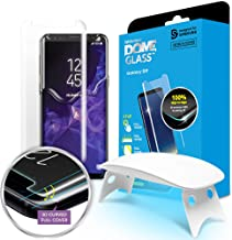 Galaxy S9 Screen Protector, [Dome Glass] Full Coverage 3D Curved Tempered Glass Shield [Liquid Dispersion Tech] Easy Install by Whitestone for Samsung Galaxy S9 (2018) - 1 Pack