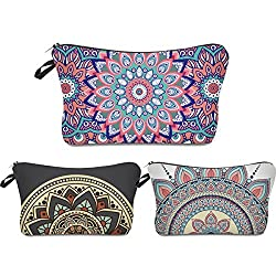 Mandela Flowers travel cosmetic bags
