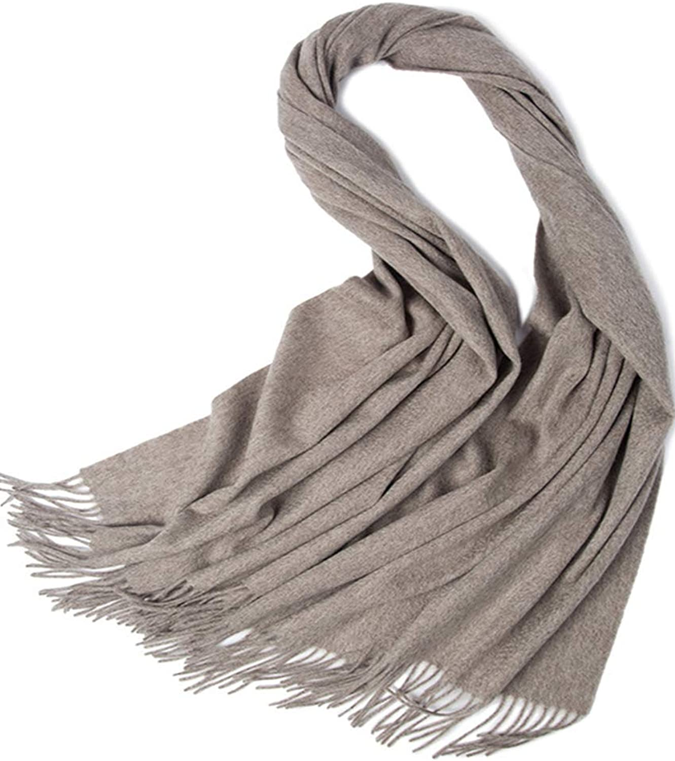 Helan Women's Pure Lambswool Long Scarf Oversized Shawl Long Shawl Wraps Solid color 200cm X 70cm Porpoise
