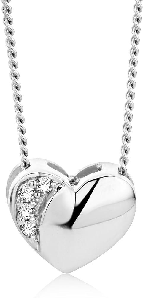 Orovi collana per donna in oro bianco 18 kt /750(1.6 g) e diamante 0,01 ct OR81199N