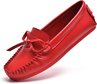 MELLOW SHOP New Women Real Leather Shoes Moccasins Casual Footwear Size 35-44 in 24 Colors