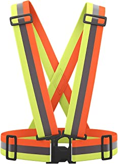 AYKRM 9 Color Reflective Vest with Hi Vis Bands, Fully Adjustable & Multi-Purpose: Running, Cycling, Motorcycle Safety, Dog Walking - High Visibility