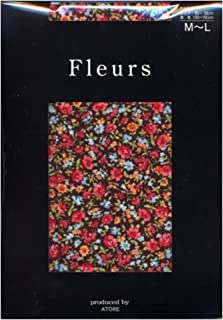 (フルール) Fleurs 80デニール プチ フルール プリント タイツ(ゾッキタイプ) M-L