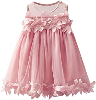 2ed40f15264 iZHH Toddler Baby Girls Fashion Solid Tulle Skirt Floral Dresses Princess  Dress