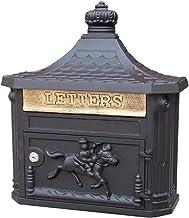 Mailbox Waterdichte familie met slot buitenmuur installatie retro (kleur: zwart)
