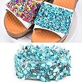 HEEPDD 1m Adornos de Diamantes de imitación, DIY Apliques de Cristal Rhinestones de Shell Aplique de la Perla para el Bolso Headwear Vestido de Boda(#05)