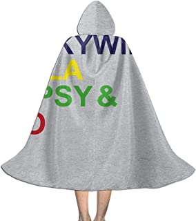 Teletubbies Character List Unisex Kids Hooded Cloak Cape Halloween Xmas Party Decoration Role Cosplay Costumes Black