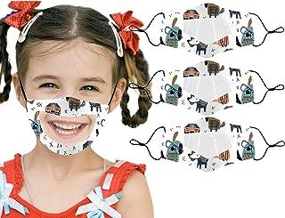 Gpure Lot De 3 Enfant Lavable Anti-Buée Transparente 𝐌𝐀𝐒𝐐𝐔𝐄𝐒 Avec Fenêtre Claire Visible Expression Pour La Lecture...