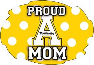 R and R Imports, Inc Appalachian State Mountaineers NCAA Collegiate Trendy Polka Dot Proud Mom 5