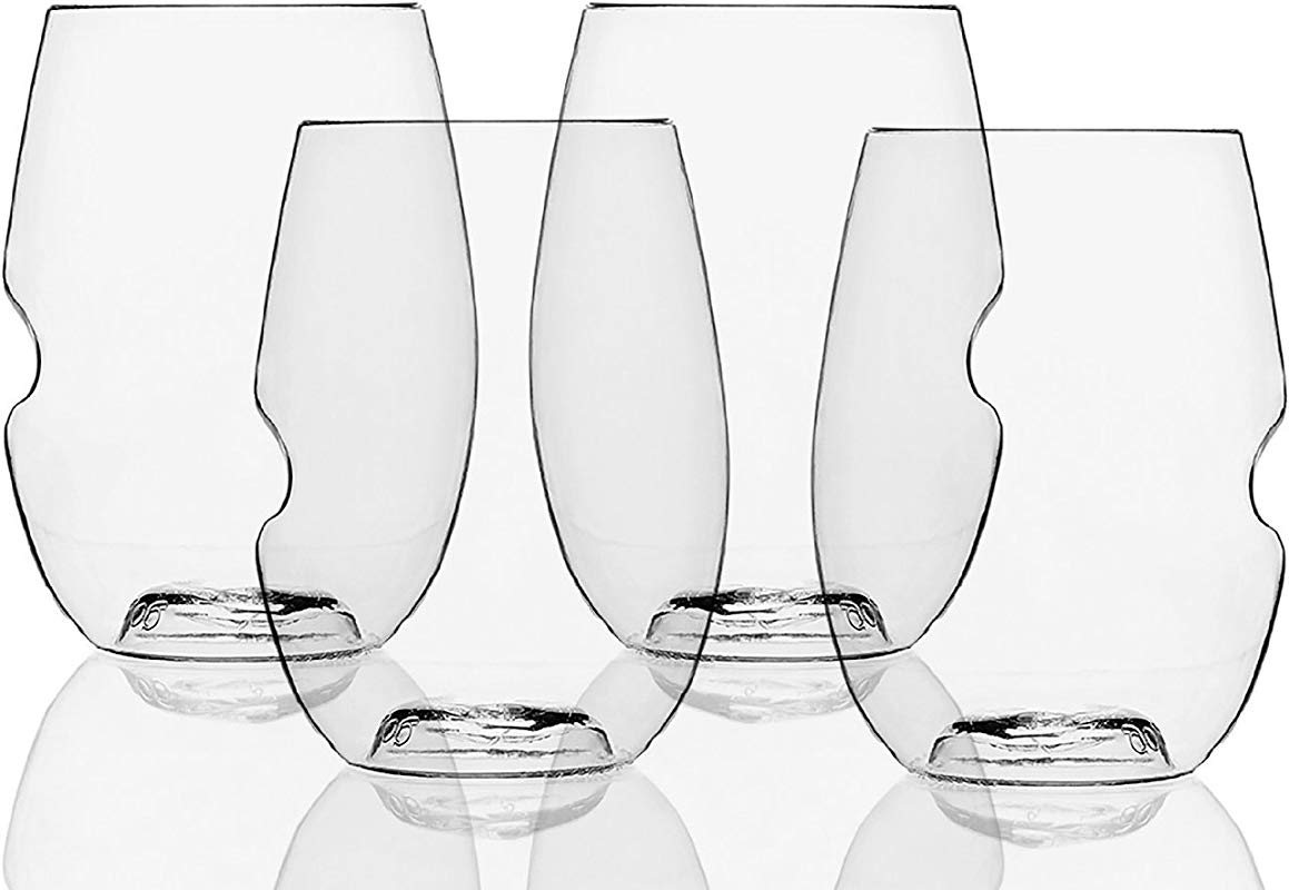 Govino Go Anywhere Dishwasher Safe Flexible Shatterproof Recyclable Wine Glasses 16 Ounces Set Of 72