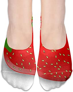 ALPHNJ Calcetines Fresh Strawberry Womens Low Cut Sock Casual Calcetines invisibles para niña