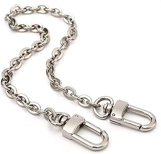 Mini Copper Purse Chain Shoulder Crossbody Strap Bag Accessories Charm Decoration (Silver, 13'')