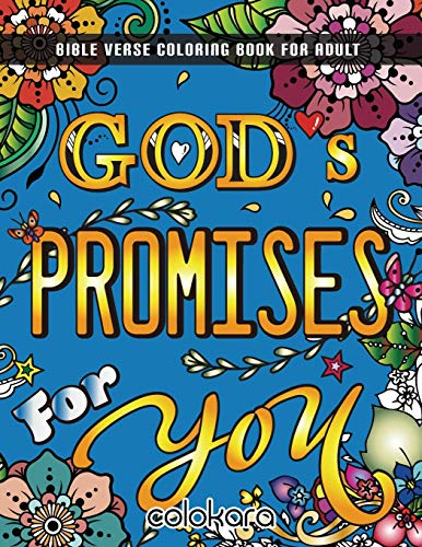 God's Promises For You: Bible Verse Coloring Book For Adult   Color as You Reflect on God's Words to You (Bible Verse Coloring Book For Adults)