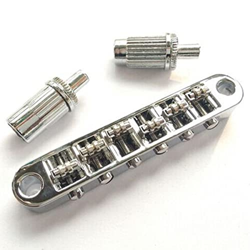 Chrome Guitar Roller Saddle Tune-O-Matic Bridge For Gibson Epiphone Les Paul SG
