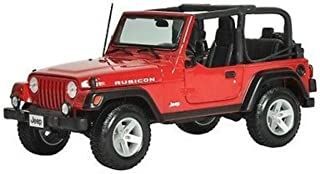 Maisto Die-cast Model Jeep Rubicon (1:18 Scale in Red)