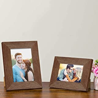 "Art Street Table Photo Frame/Picture Frame for Desk (Photo Size 5""X7"" & 4""X6"") Photo Gift/Love Gift - (Set of 2- Brown)"