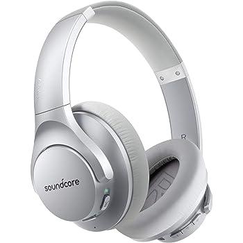 Anker Soundcore Life Q20(Bluetooth5.0 オーバーイヤー型ヘッドホン)【アクティブノイズキャンセリング/ハイレゾ対応(AUX接続時) / 最大40時間音楽再生 / マイク内蔵】シルバー
