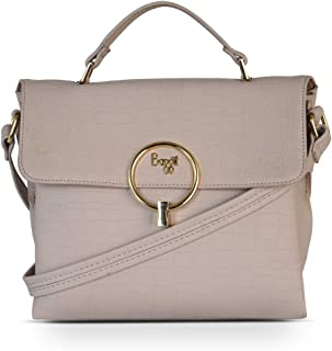 Baggit Spring-Summer 2021 Faux Leather Women's Satchel Handbag (Grey) (Reinvent)