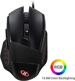 ROSEWILL LED Lighting Wired USB Gaming Mouse, Gaming Mice for Computer/PC/Laptop/Mac Book with 4000 DPI Optical Gaming Sen...