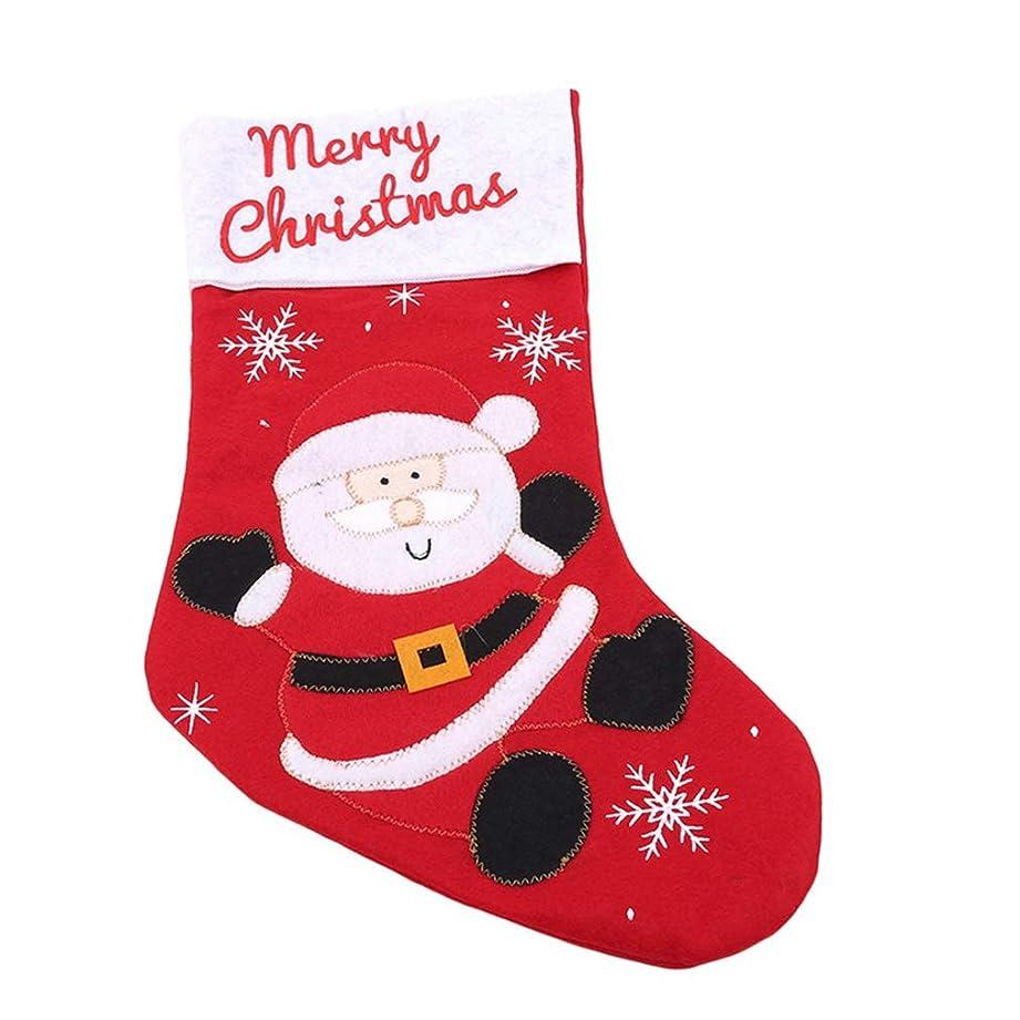 評価可能本物セメントSevenfly クリスマスストッキングクリスマスパーティー暖炉デコレーションサンタクロース雪だるまトナカイ(赤)