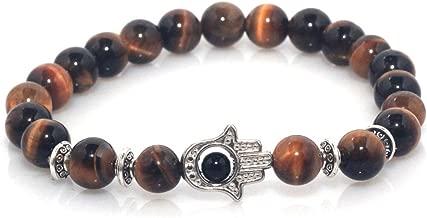 Maya Bracelets Hand of Hamsa Charm Marble Stone Bracelet