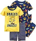 Carter's Boys' 6M-12 4 Piece Snacks Before Snoozes Pajama Set 3T