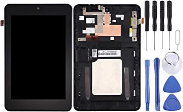 Zhouzl Mobile Phone LCD Screen LCD Screen and Digitizer Full Assembly with Frame for Asus Memo Pad HD7 / ME173X / ME173 K00B (Black) LCD Screen (Color : Black)