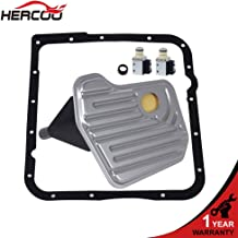 HERCOO 4L60E Shift Transmission Solenoid Valve A&B with Filter Gasket Kit Compatible with 1998-Up GM Chevrolet Buick Pontiac Trucks