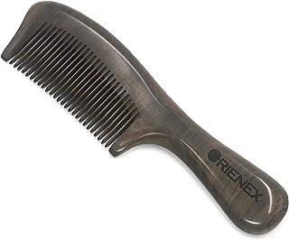 Orienex 高級木製櫛 ヘアブラシ ヘアコーム 静電気防止 頭皮マッサージ (並歯?ブビンガウッド)