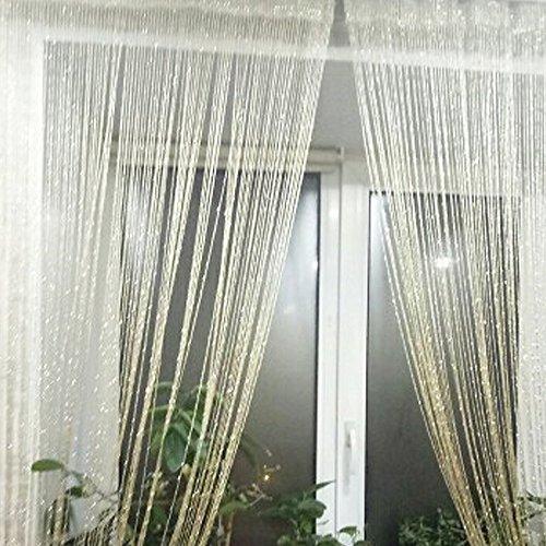 cortinas hilos rosa