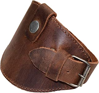 Hide & Drink, Motorcycle Boot Leather Protector/Shifter/Biker Gear/Shoe Cover/Guard, Handmade Includes 101 Year Warranty :: Bourbon Brown