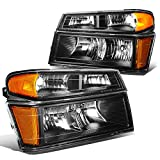 DNA MOTORING HL-OH-CCOL044P-BK-AM Headlight Assembly, Driver & Passenger Side,Black amber
