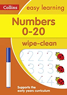 Numbers 0-20 Age 3-5 Wipe Clean Activity Book: Ideal for Home Learning