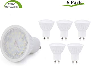 GU10 LED Bulbs Dimmable,7W(65W Halogen Bulb Equivalent),GU10 Base,Natural White 4000K LED Recessed Light Bulb,120° Beam Angle,700LM,120V Small Flood Light Bulbs Indoor Track Lighting Lamp - 6 Pack