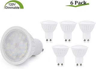 GU10 LED Bulbs Dimmable,7W(65W Halogen Bulb Equivalent),GU10 Base,Warm White 2700K LED Recessed Light Bulb,120° Beam Angle,700LM,120V Small Flood Light Bulbs Indoor Track Lighting Lamp - 6 Pack