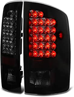 VIPMOTOZ Black Smoke Premium LED Tail Light Housing Lamp Assembly For 2002-2006 Dodge RAM 1500 2500 3500 Pickup Truck Driver and Passenger Side Replacement