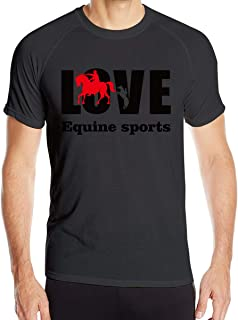 Love Equine Sports-01 Men's O Neck Quick Dry Short Sleeve T-Shirt Running Fitness Training Riding Leisure Shirts