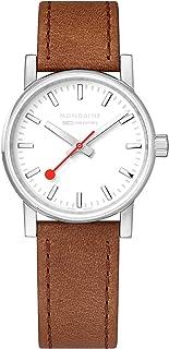 Mondaine - Evo2 - Reloj de Cuero Marrón para Mujer, MSE.30110.LG, 30 MM