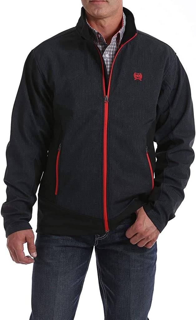 Cinch Men's Dark Gray Zip-Front Bonded Softshell Jacket