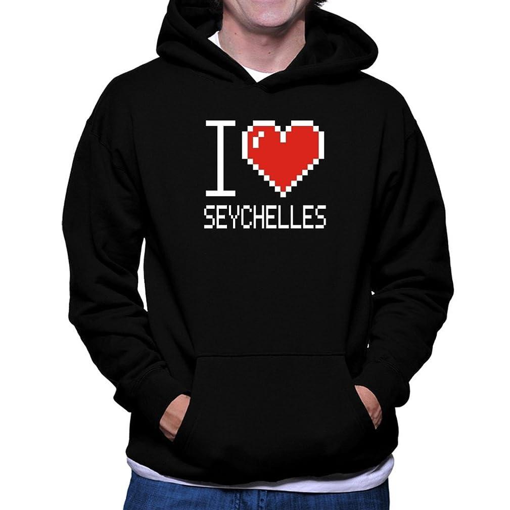 I love Seychelles pixelated Hoodie