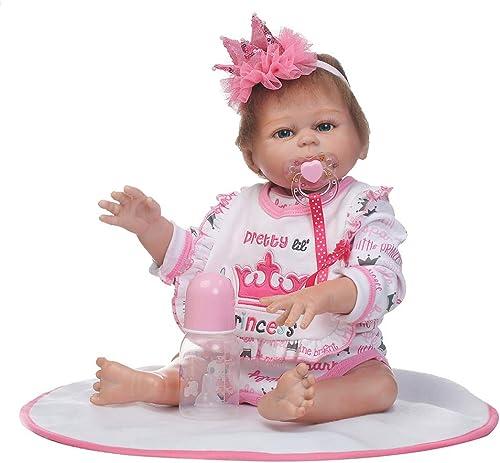 0Miaxudh Rebornpuppe, 50cm Simulation Baby Spielzeug, Weißhe Kinder Kinder Neugeborene Rebornpuppe, Geburtstagsgeschenk