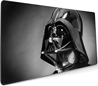 Star Wars Darth Vader Helmet Rectangle Non-Slip Rubber Electronic Sports Oversized Large Mousepad Gaming Mouse Pad 15.8X35.5 Inch