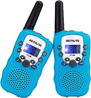 جهاز واكي توكي متنقل RT-388 462.5625-467.7250 ميجا هرتز من ريتفيس، 22 قناة، شاشة LCD، كشاف وراديو ثنائي الاتجاه VOX (2 عبوة بلون وردي), Blue
