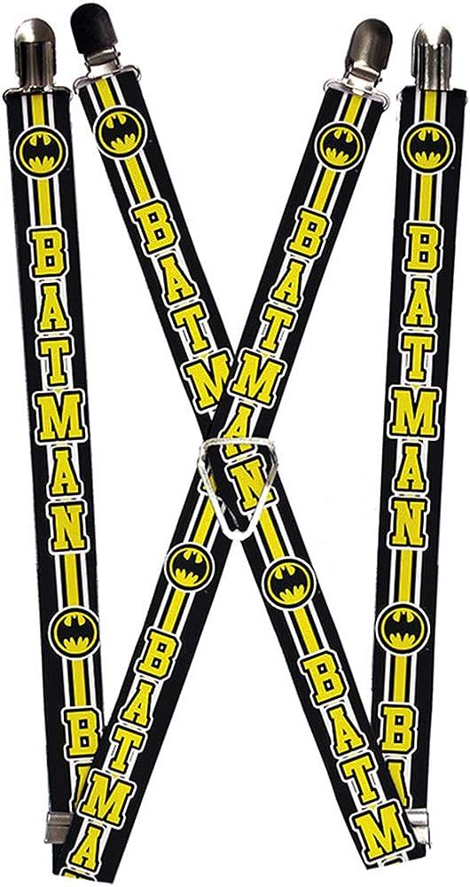 Buckle-Down Unisex-Adult's Suspender-Batman, Multicolor, One Size